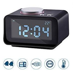 Lyker Digital Alarm Clock for Heavy Sleepers