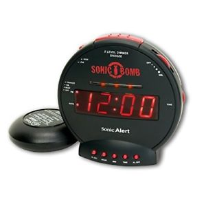 (Best Alarm Clocks For Heavy Sleepers) Sonic Alert SBB500SS Loud Dual Alarm Clock