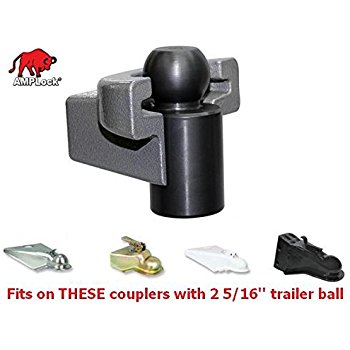 (Best Trailer Locks) AMPLOCK U-BRP2516 RV Trailer Coupler Locks