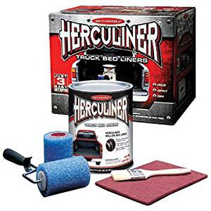 (Best Diy Bedliner) Herculiner HCL1B8 Brush on Bed Liner Kit